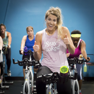 indoor cycling/spinning at Elevate Fitness