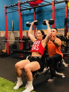 Elevate Fitness Personal Trainer David Cruz Trains Client Alicia Whitmore