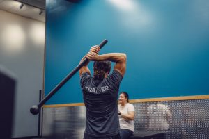 Mace training at Elevate Fitness in Dewitt, NY