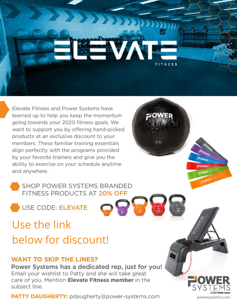 Elevate Fitness Gym Members in Syracuse, Dewitt and Liverpool Save 20% on Power Systems