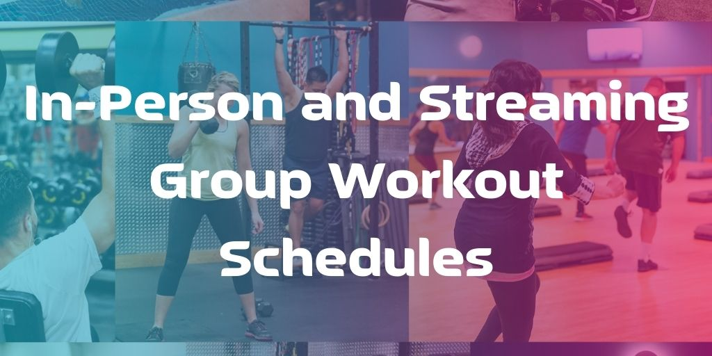 Elevate Fitness In-Person and Streaming Group Workout Schedules