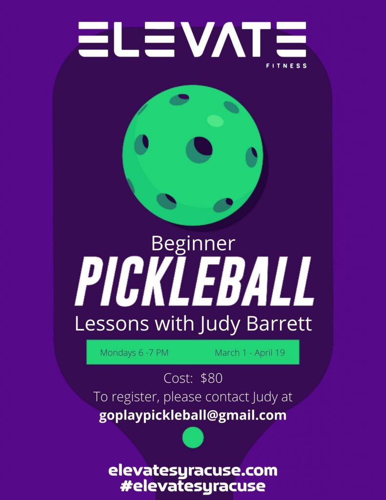 Pickleball Lessons with Judy at Elevate Fitness in Dewitt, NY