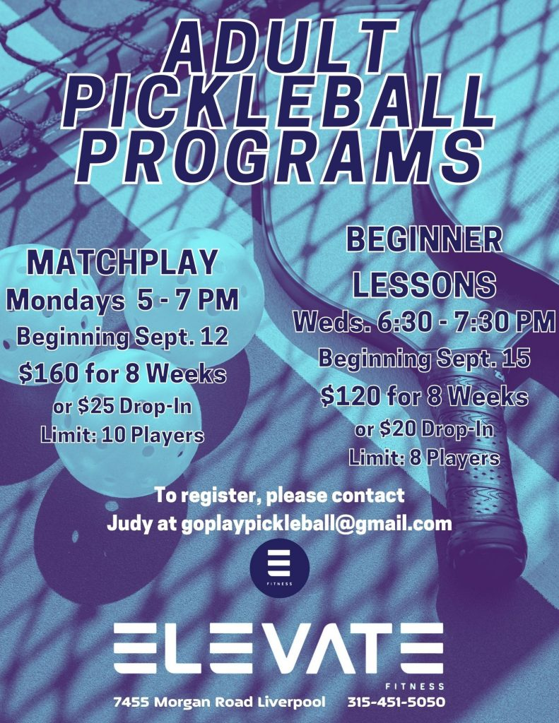Pickleball at Elevate Fitness in Syracuse, NY